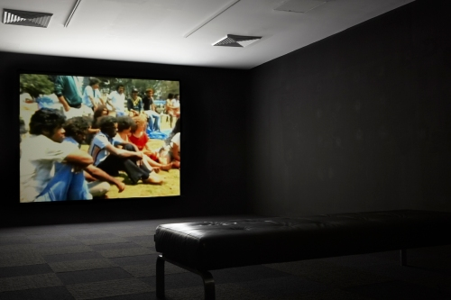 Madeline McGrady & Richard Bell, We Fight (1982), single-channel film, installation view, photograph: Susannah Wimberley